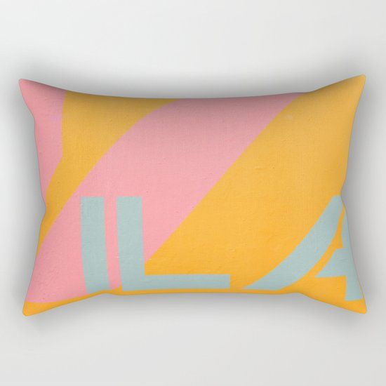 "Vila Madalena - Series ""Districts of São Paulo"" Rectangular Pillow"
