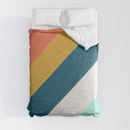 Diagonal Color Blocking – Mediterranean Palette Comforters