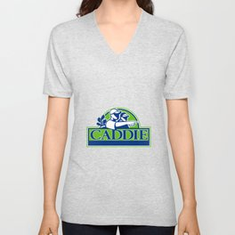 Professional Golfer and Caddie Retro Unisex V-Neck