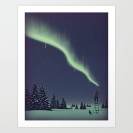 Winter Painting Art Print