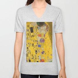Gustav Klimt The Kiss Detail Unisex V-Neck