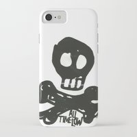 all time low iPhone & iPod Cases featuring All Time Low Skull and Cross Bones by Kelsey