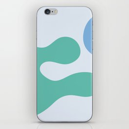 I don't know - on blue background iPhone Skin