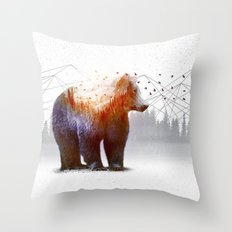 A Wilderness Within / Bear Throw Pillow