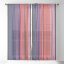 Five Colors and Black Sheer Curtain