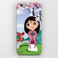 mulan iPhone & iPod Skins featuring Mulan by Loud & Quiet