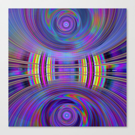 Dynamic fractal abstract in rainbow colors Canvas Print