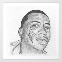 Life Is Short - Get A Face Tattoo Art Print