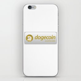 Accepted here: Dogecoin (Doge) iPhone Skin