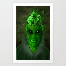 GREEN PLANET ALIEN (Us And Them) Art Print