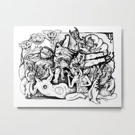The Dismembered Buddha Metal Print