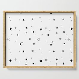 Star Doodle Pattern Serving Tray