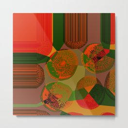 ORANGE GREEN 35 Metal Print