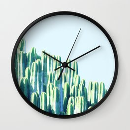 Cactus by the Sea #society6 #decor #buyart Wall Clock