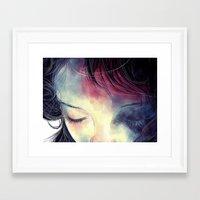 sleep Framed Art Prints featuring Sleep  by margaw