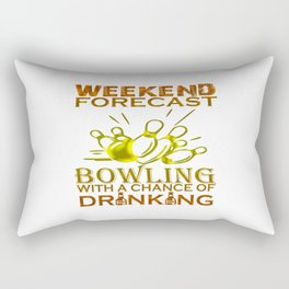 WEEKEND FORECAST BOWLING Rectangular Pillow