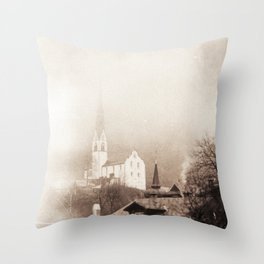Foggy Oetz Throw Pillow