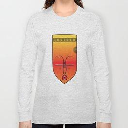 African Tribal Mask No. 9 Long Sleeve T-shirt