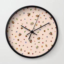 Ice Cream Floral (Salmon) Wall Clock