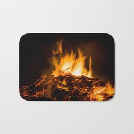 Fire flames Bath Mat