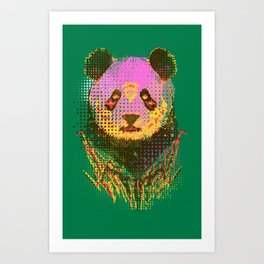 Dandy panda Art Print