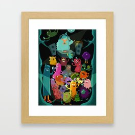 The mezcal monsters Framed Art Print