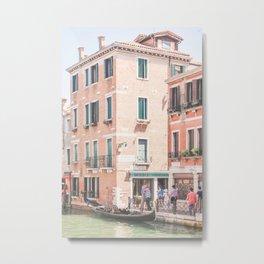 442. Brick Buildings, Venice, Italy Metal Print