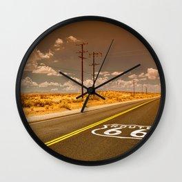 U.S. Route 66 highway. Wall Clock