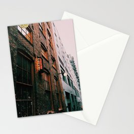 Post Alley in the Rain Stationery Cards
