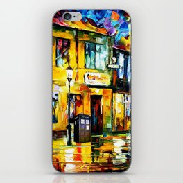 Tardis Art Tree Starry Night iPhone Skin