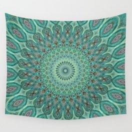 Mint Dreams Mandala Wall Tapestry