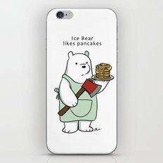 Ice Bear likes pancakes iPhone & iPod Skin