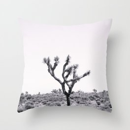 Joshua Tree Monochrome, No. 2 Throw Pillow