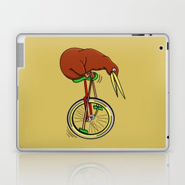 Kiwi Riding A Unicycle Laptop & iPad Skin