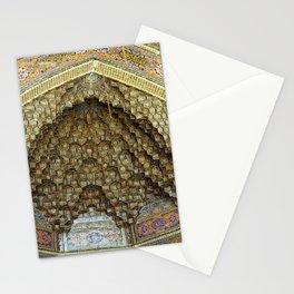 Persian Art Nasir-al-Molk Mosque Entrance Door Facade Tile Mosaic, Shiraz Stationery Cards