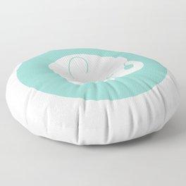 Mod Baby Elephant Teal Floor Pillow