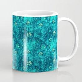 Teal Flowers Coffee Mug