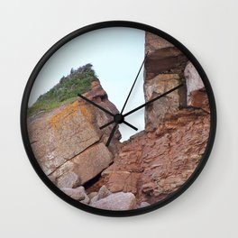 Indian Head Mountain Wall Clock