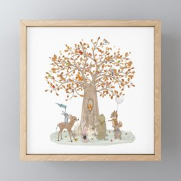 the little oak tree Framed Mini Art Print