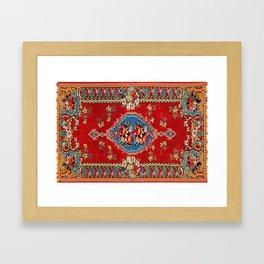 Bijar Silk Kilim  Antique Kurdish Persian Rug Print Framed Art Print