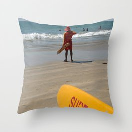 Surf Rescue Palolem Throw Pillow