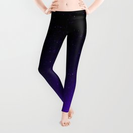Black/Purple Gradient (with sparkles) Leggings