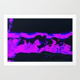 cloudy w a chance of glitches Art Print