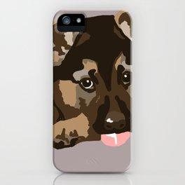 German Shepherd Puppy iPhone Case