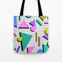 80s Retro Geometric Pattern 2 Tote Bag