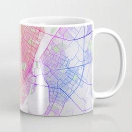 Montreal City Map of Canada - Colorful Coffee Mug