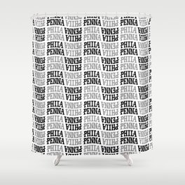 PHILA/PENNA Pattern Shower Curtain