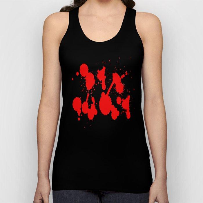blood stains splatter on black Unisex Tank Top