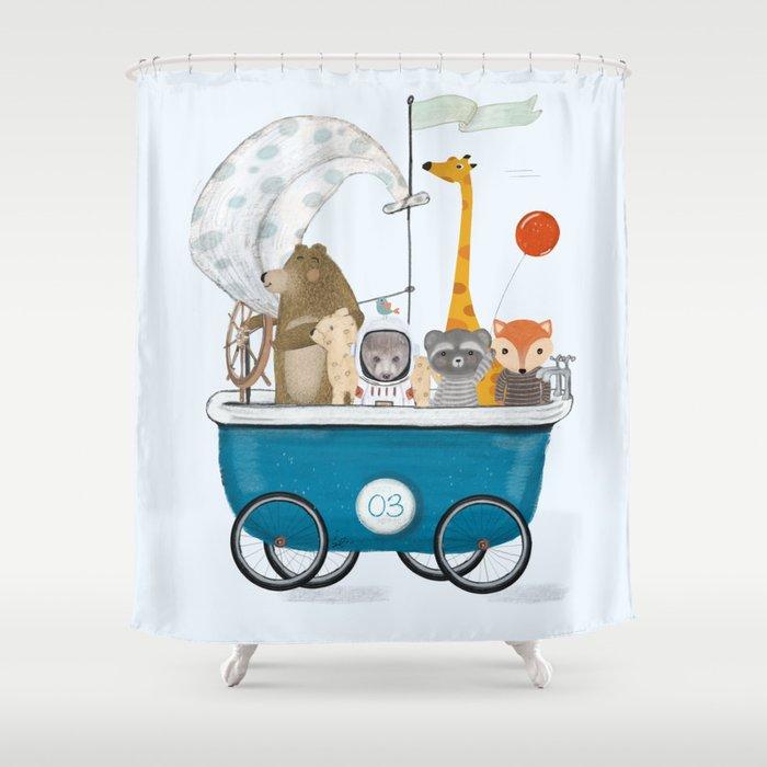 the bath cart Shower Curtain