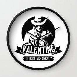 Valentine Detective Agency Wall Clock
